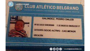 Le puso a su hijo Dale B por el club Belgrano