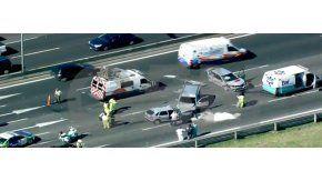 Tres autos chocaron en Panamericana