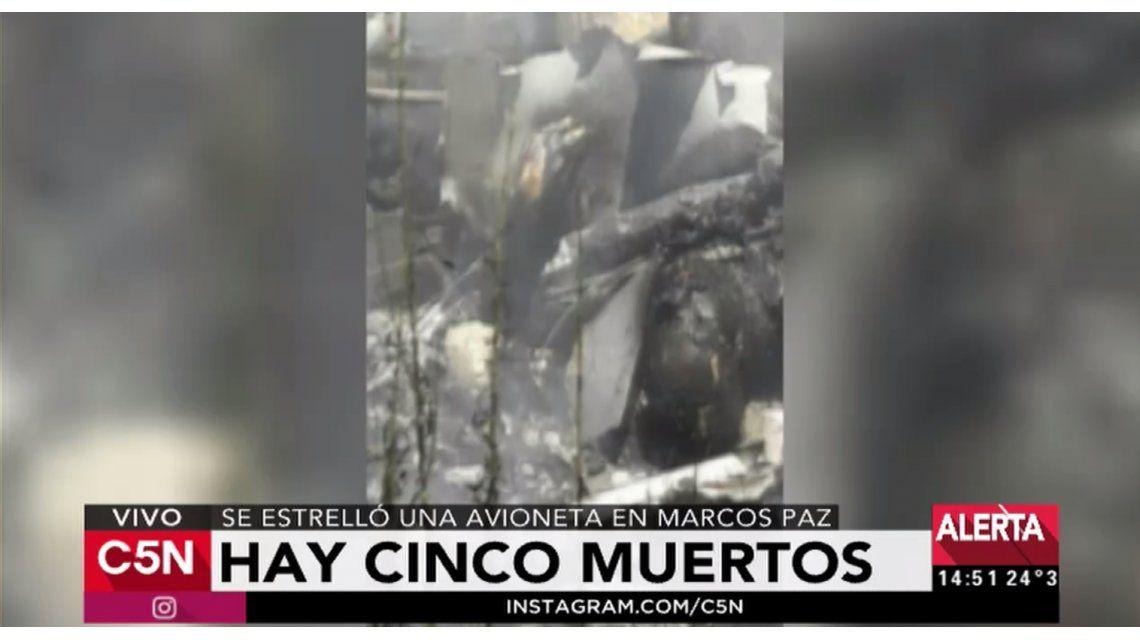 Cinco personas murieron luego de un avioneta se estrellara en Marcos Paz