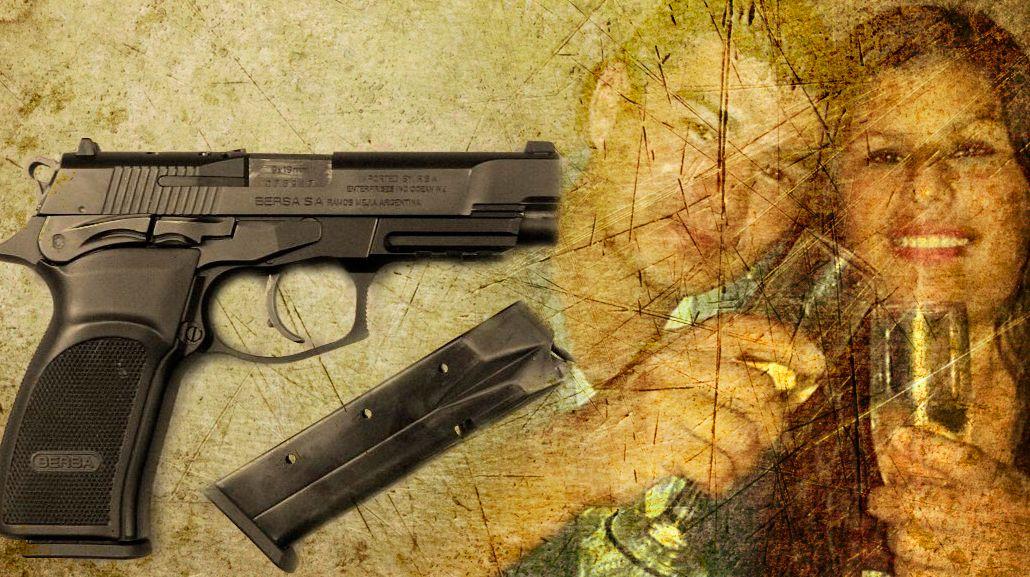 Así es la pistola con que el acusado cometió el séxtuple crimen