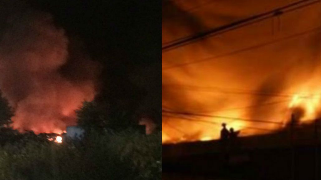 Se incendia una fábrica de neumáticos en José León Suárez