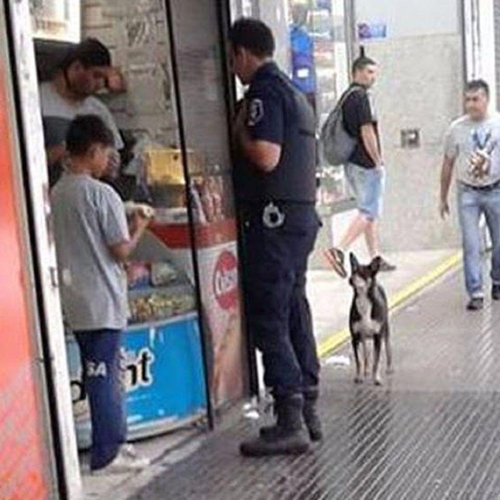 Nahuel Suárez un policía con gran corazón