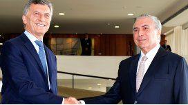 Macri y Temer, tras la reunión bilateral