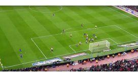Desde la tribuna, así grabaron y festejaron el gol de Messi.