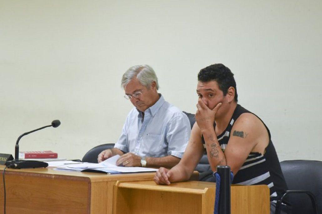 Nelson Aguilante en la audiencia en la que se le dictó la prisión preventiva