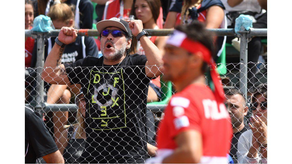 Diego se cruzó con Fognini apenas ingresó al estadio