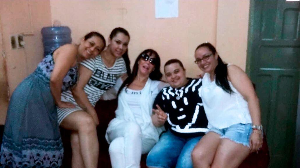 Moria Casán junto a sus ex compañeras de celda