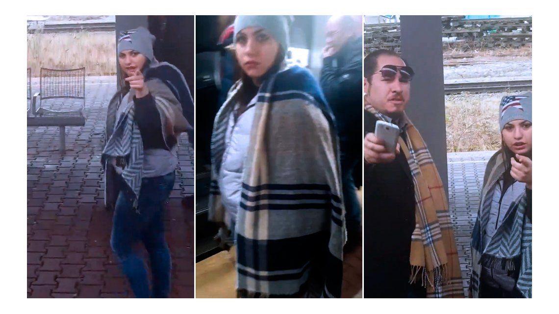 Filmaron a una mujer tratando de robarle la cartera a otra