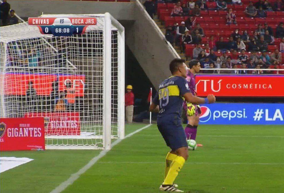 <p>Walter Bou anotó en el amistoso ante Chivas</p>