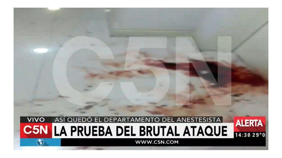 VIDEO: Así quedó el departamento del anestesista tras el brutal ataque