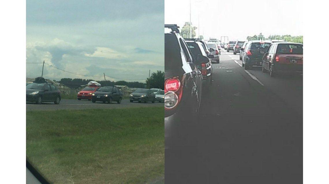 Caos de tránsito en la Ruta 2
