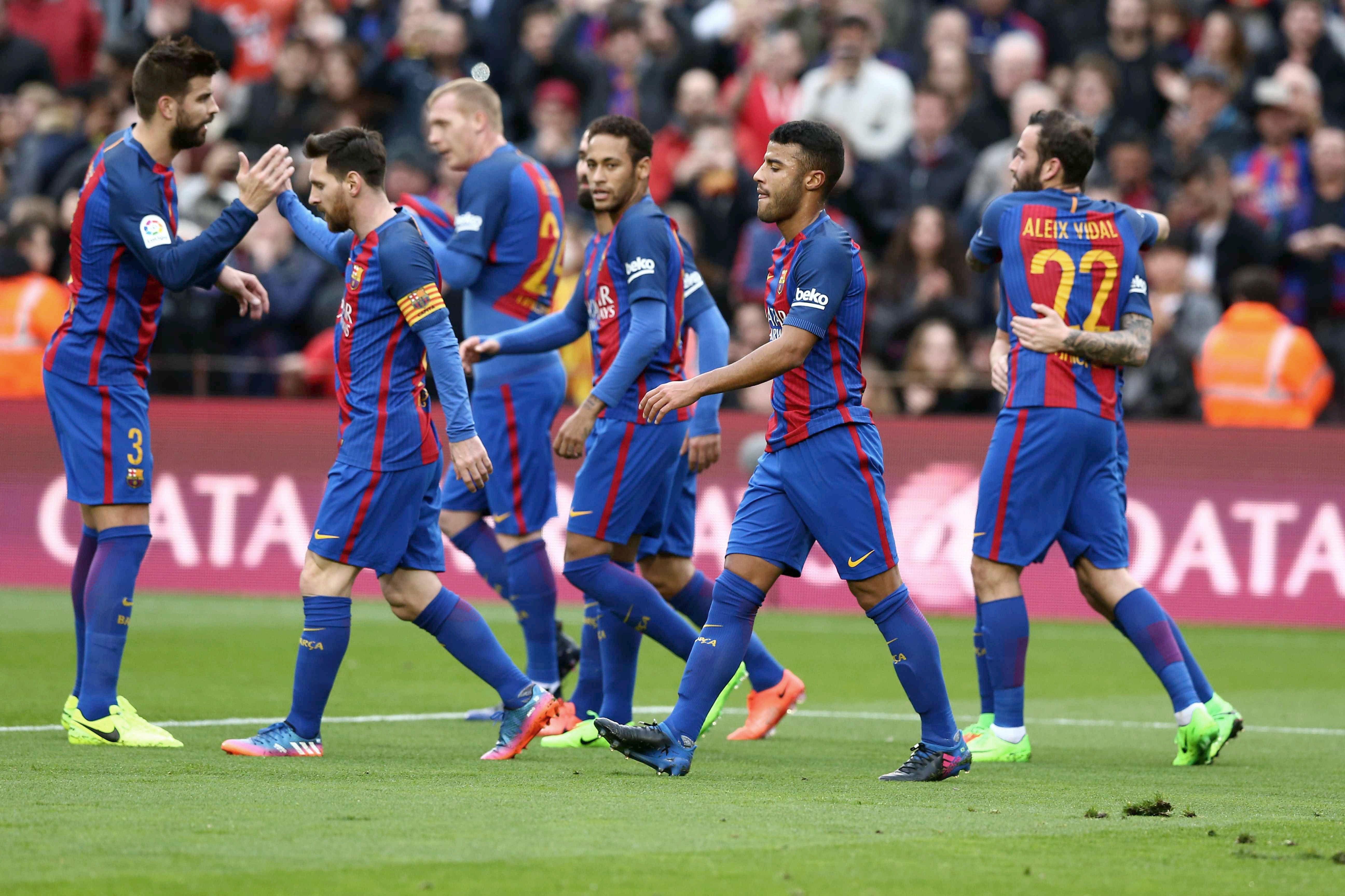 Barcelona goleó al Bilbao y no le pierde pisada al Real Madrid