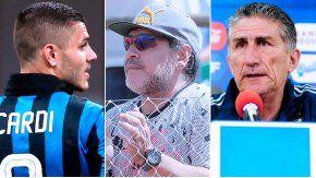 La polémica en torno a Maradona, Icardi y Bauza