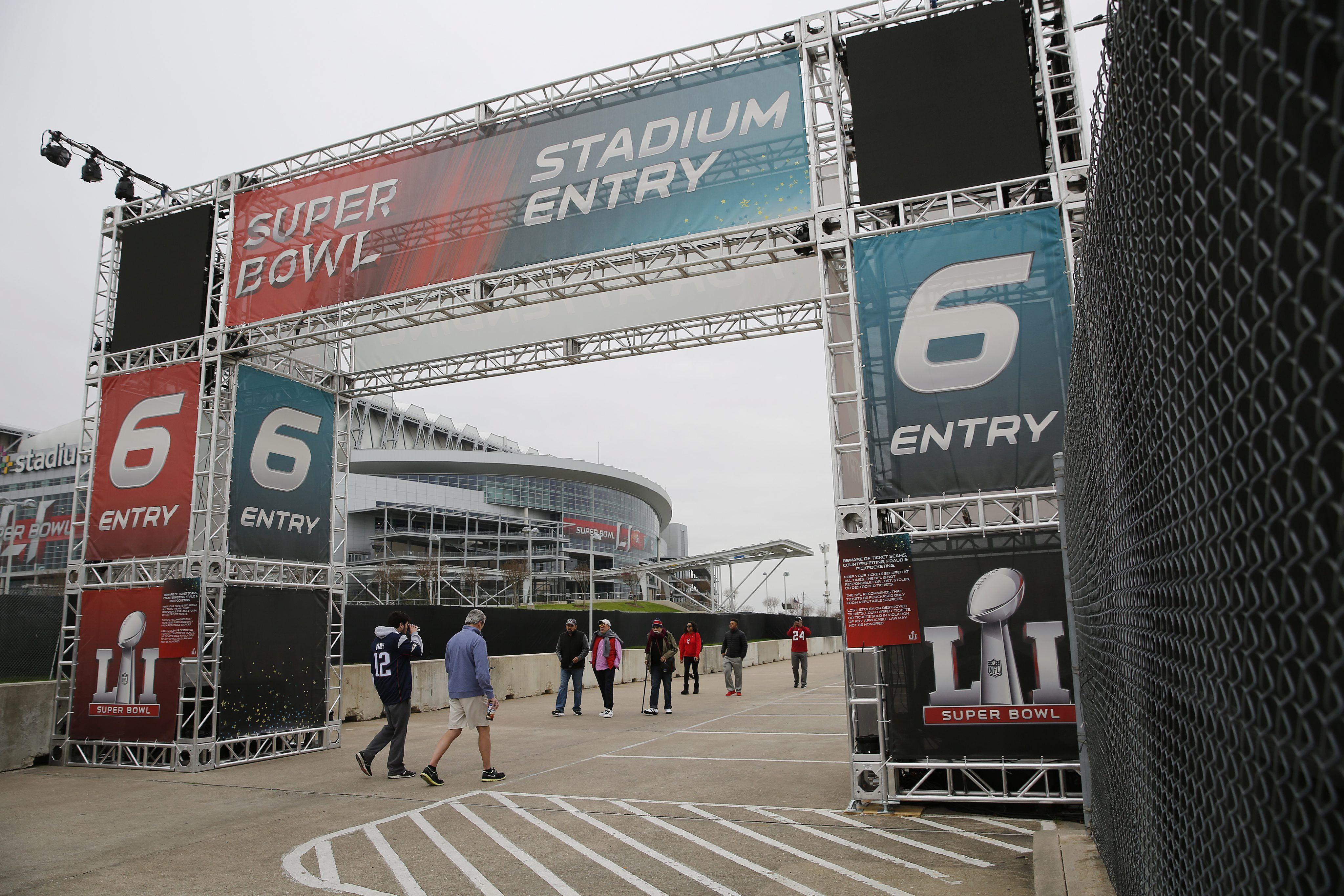 La entrada al NRG Stadium de Houston