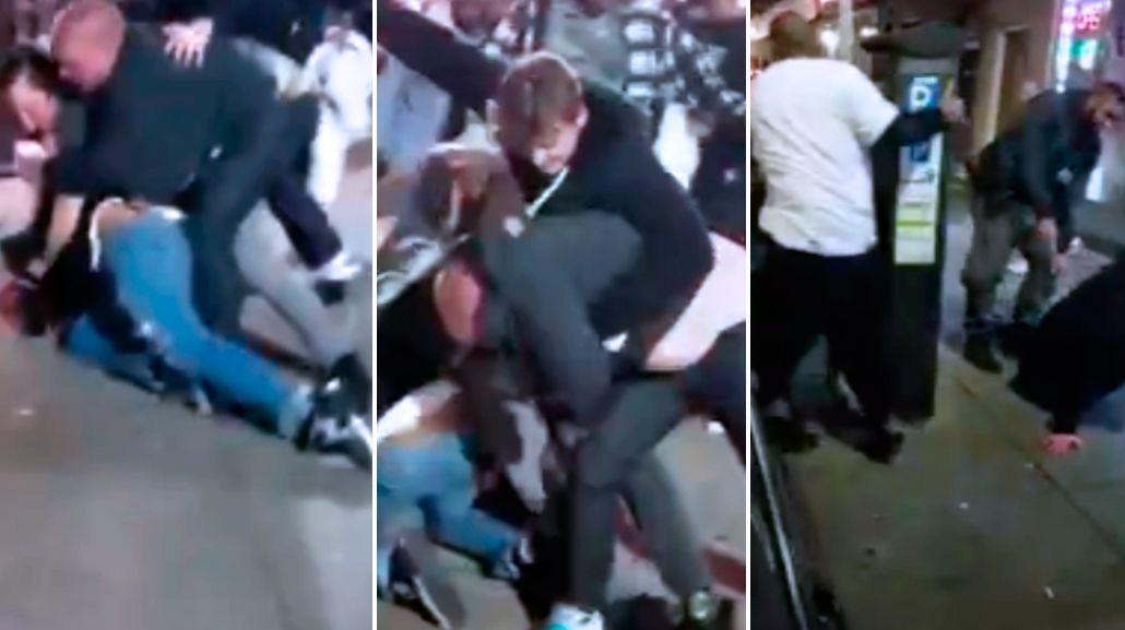 Una terrible pelea en la puerta de un bar en Filadelfia