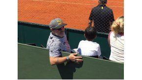 Maradona en la Copa Davis 2017