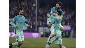 Con un gol de Messi, Barcelona le ganó al Atlético Madrid