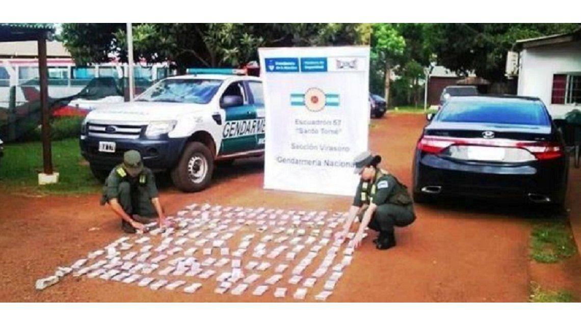 Encontraron 6 millones de pesos ocultos en un auto en Corrientes. Foto: diario El Litoral.