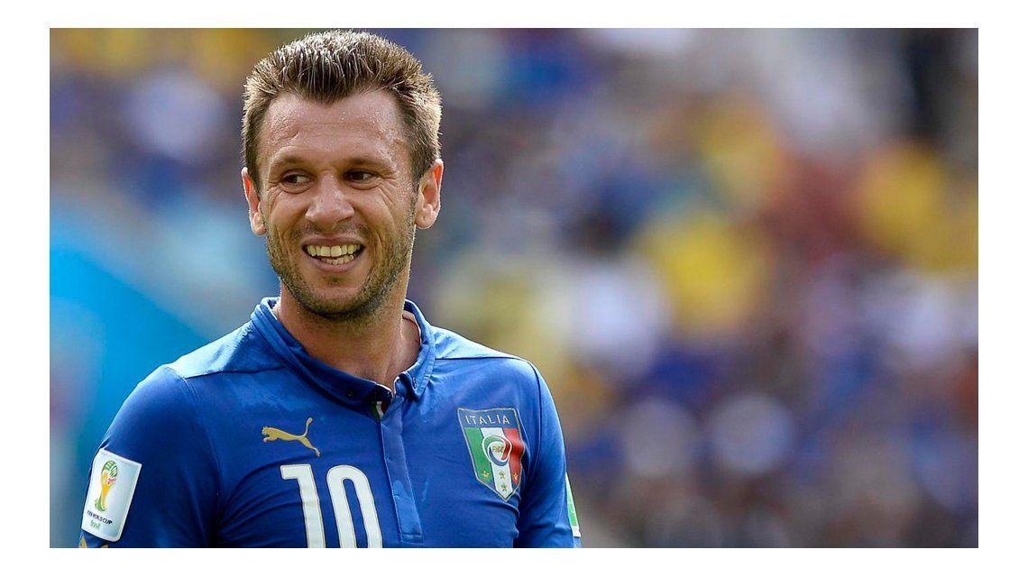 Cassano era habitual en la lista de la Selección italiana