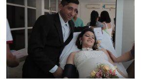 Se casaron en el hospital
