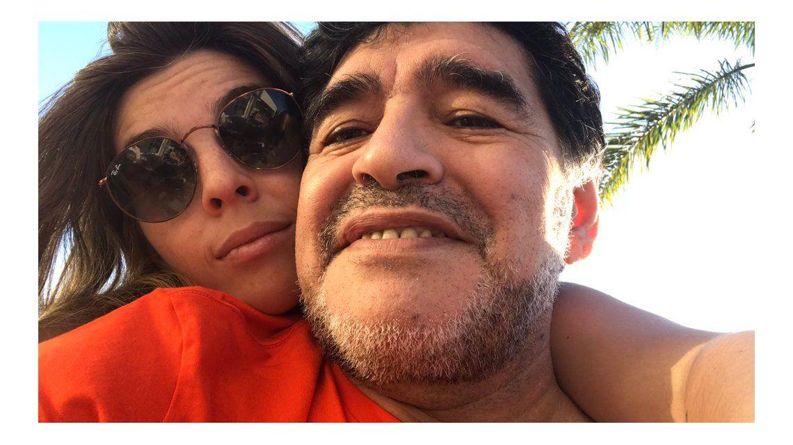 Dalma y Diego Maradona reconciliados