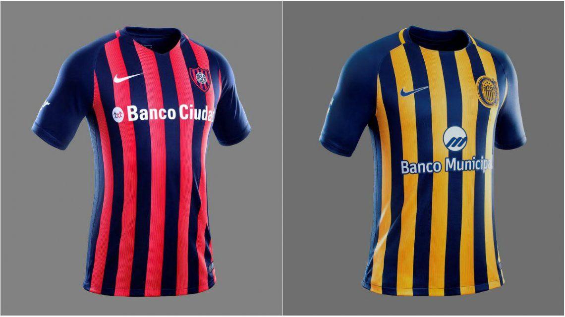Las nuevas camisetas de San Lorenzo y Rosario Central