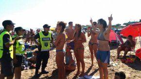 Topless censurado en Necochea