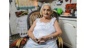 Genoveva González, la abuela de 91 años que fue con una pistola a la comisaría. Gentileza: diario La Voz de San Justo