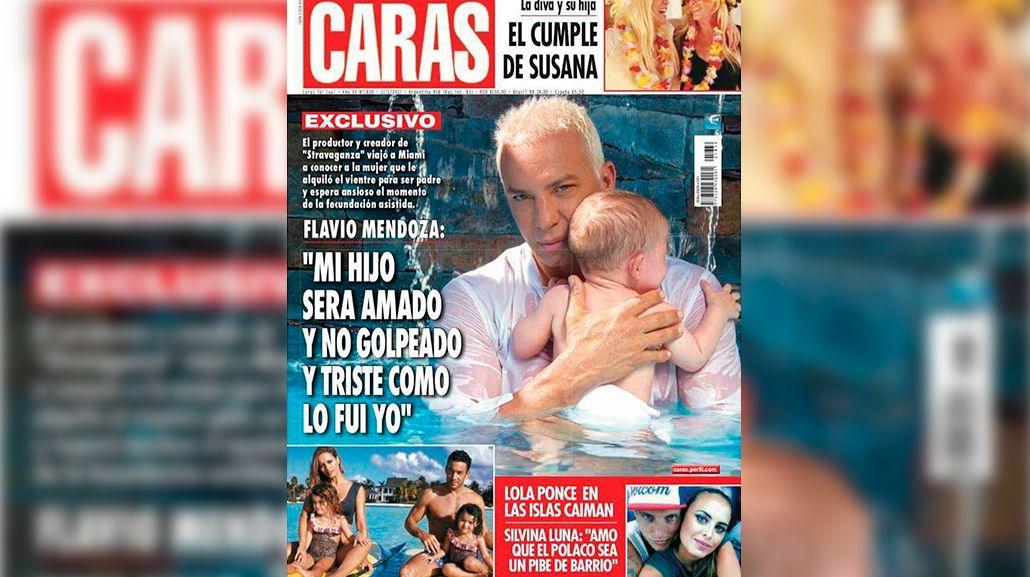 Flavio Mendoza. golpeado de chico