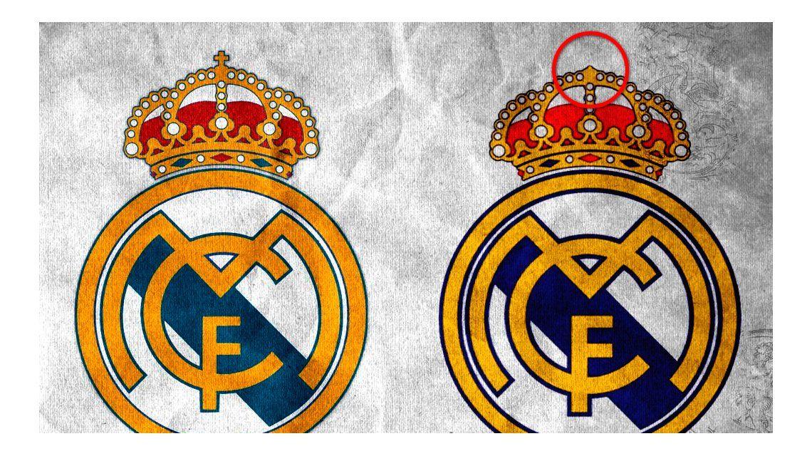 La diferencia entre los dos escudos del Real Madrid