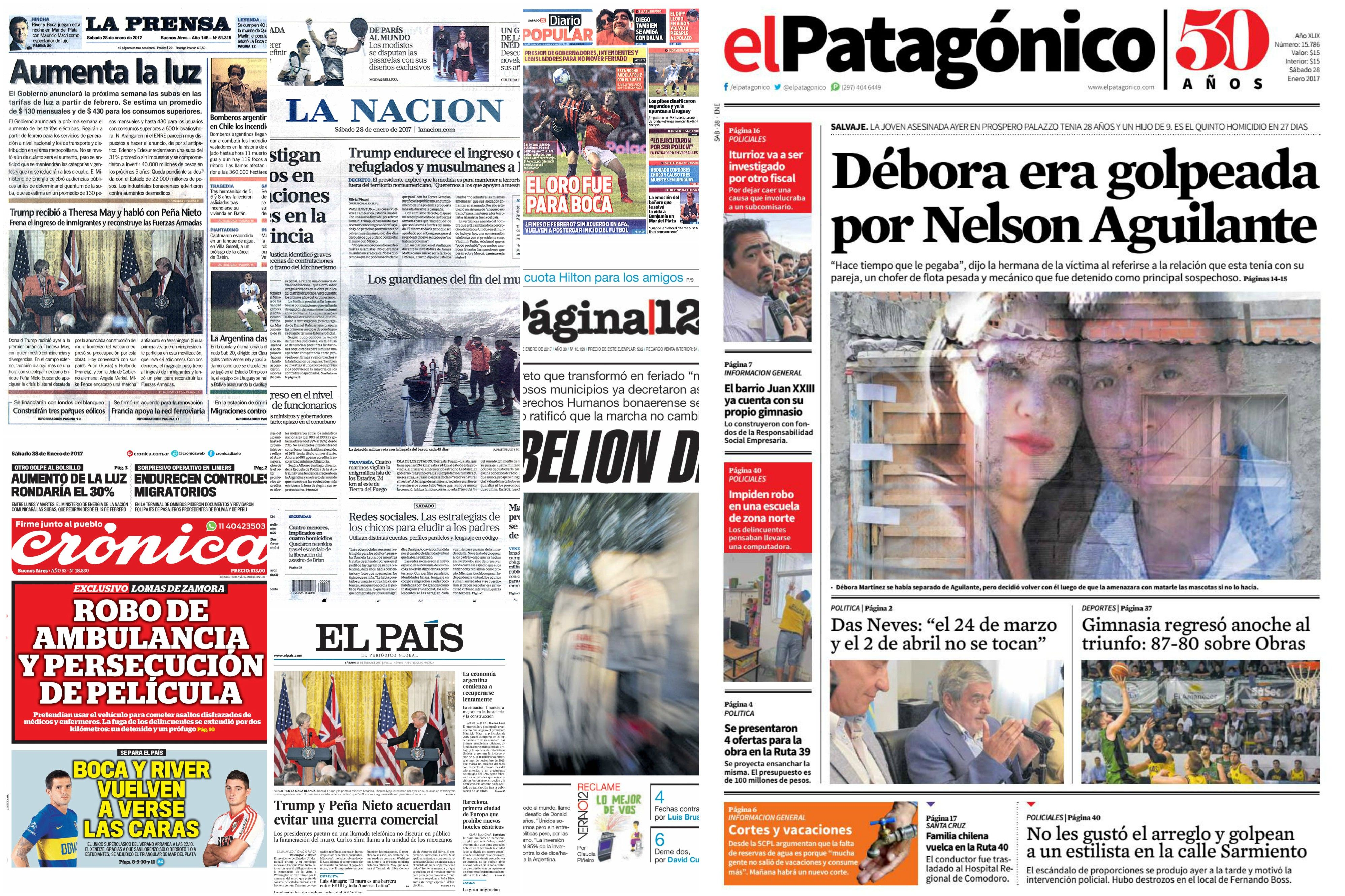 Tapas de diario del sábado 28 de enero de 2017