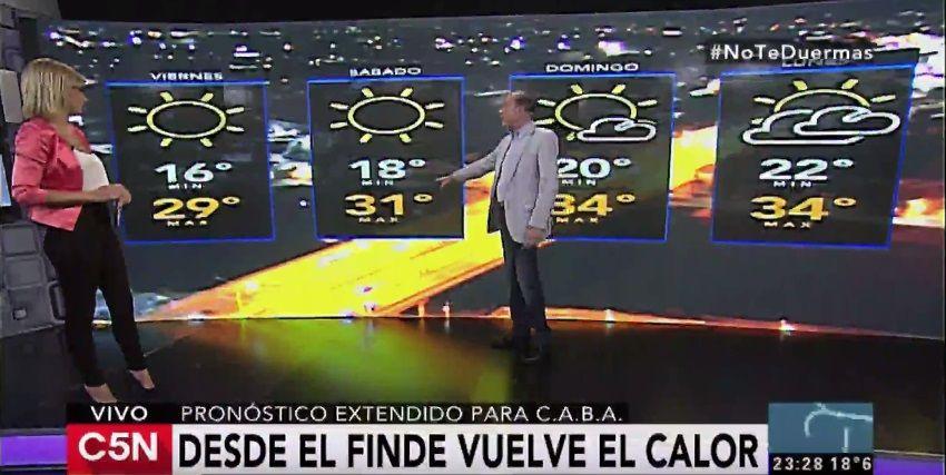Pronóstico del tiempo del viernes 27 de enero de 2017
