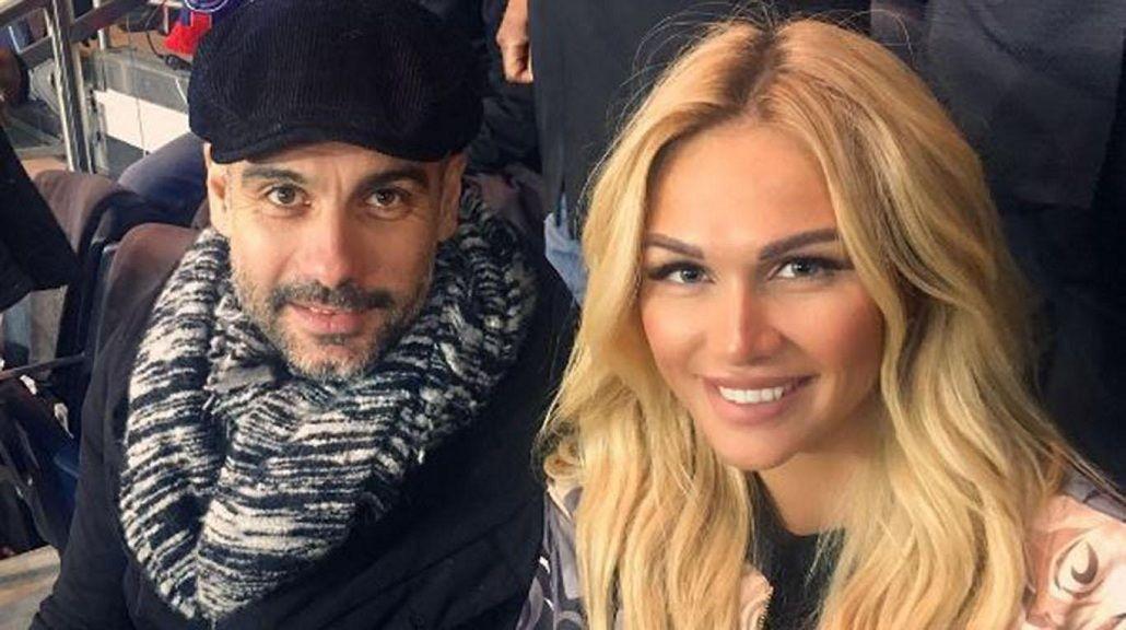 Pep Guardiola y Victoria Lopyreva