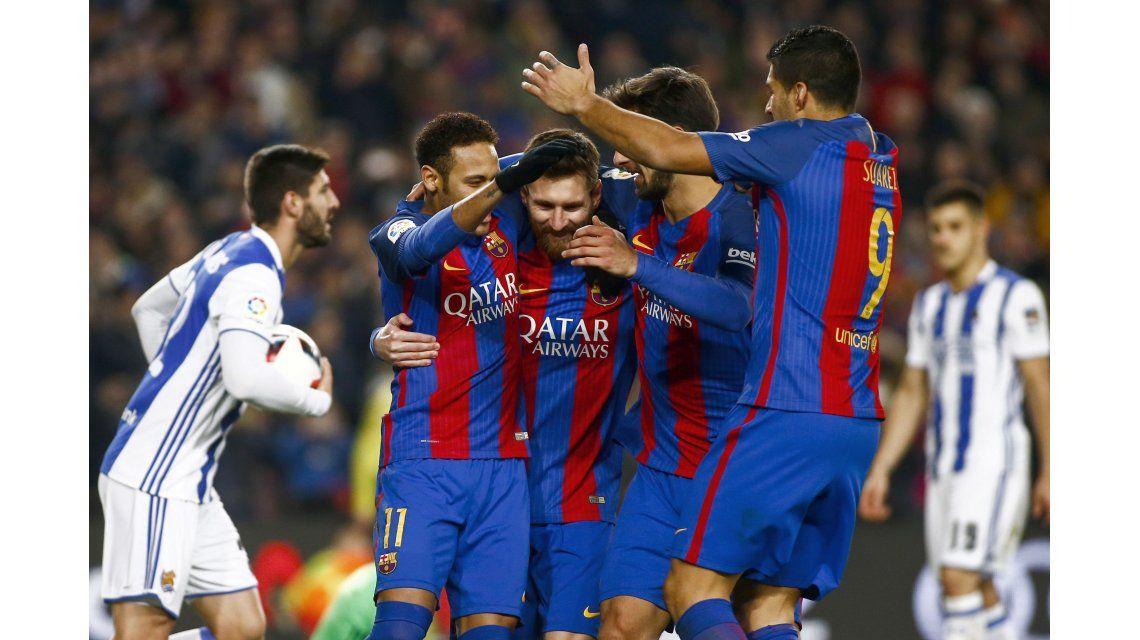 El festejo del Barcelona por Copa del Rey