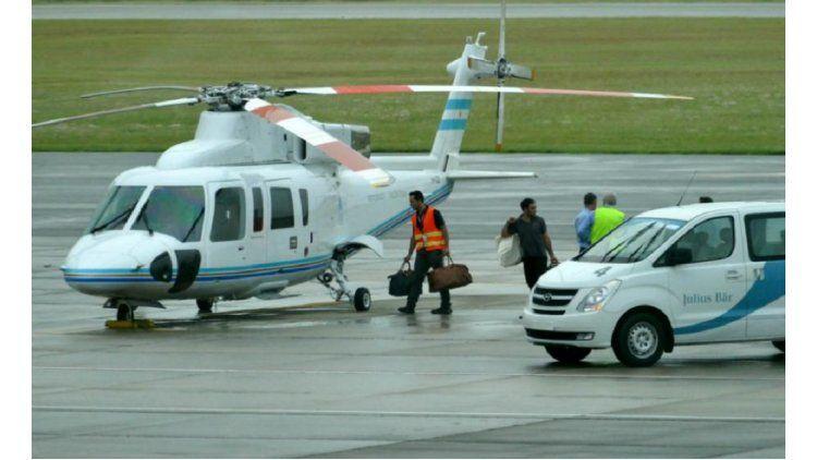Awada volvió de Punta del Este en el helicóptero presidencial