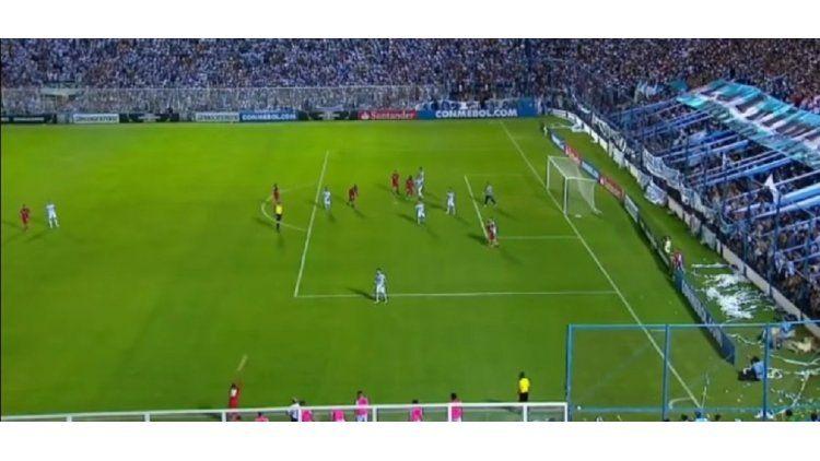 Desde este lateral surgió el gol de El Nacional