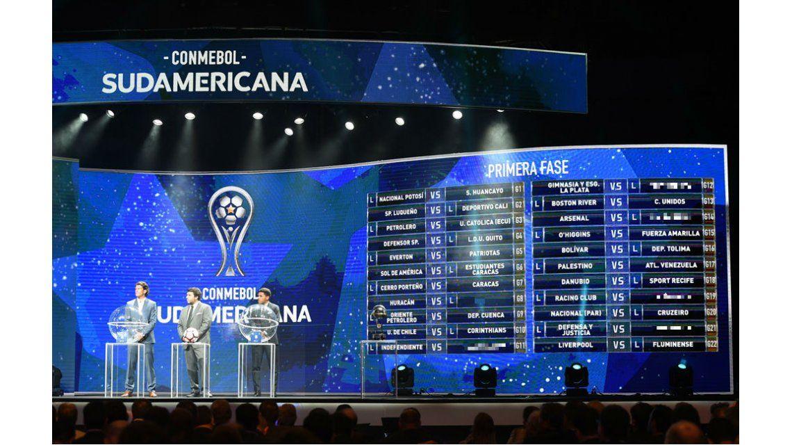 Así quedó el cuadro de la primera fase de la Copa Sudamericana 2017