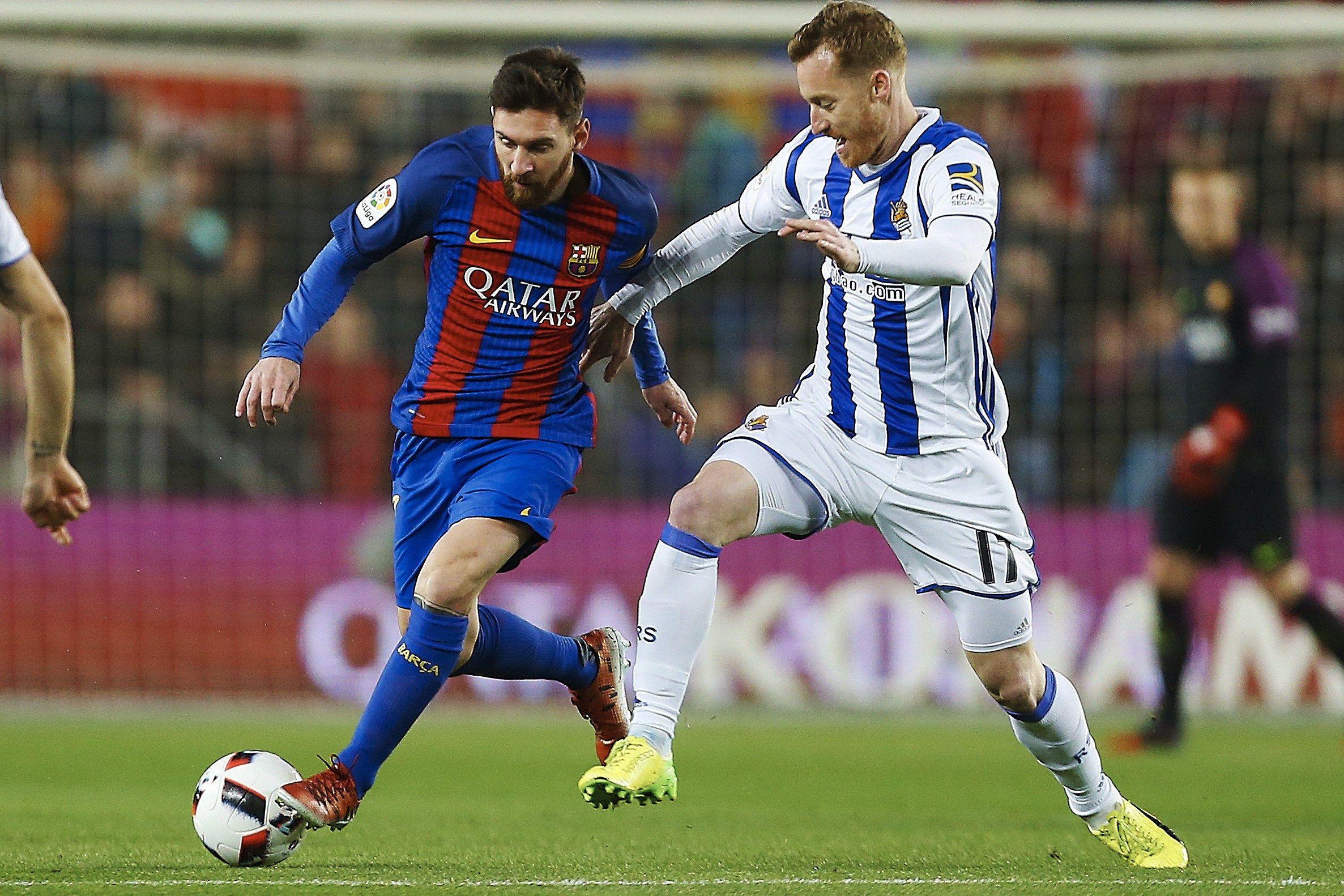 Lionel Messi ante Real Sociedad