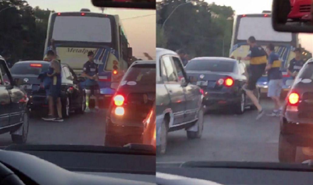 VIDEO: Hinchas de Boca le rompieron un auto a fanáticos de River