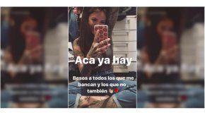 Cande Tinelli compartió fotos en Instagram Stories