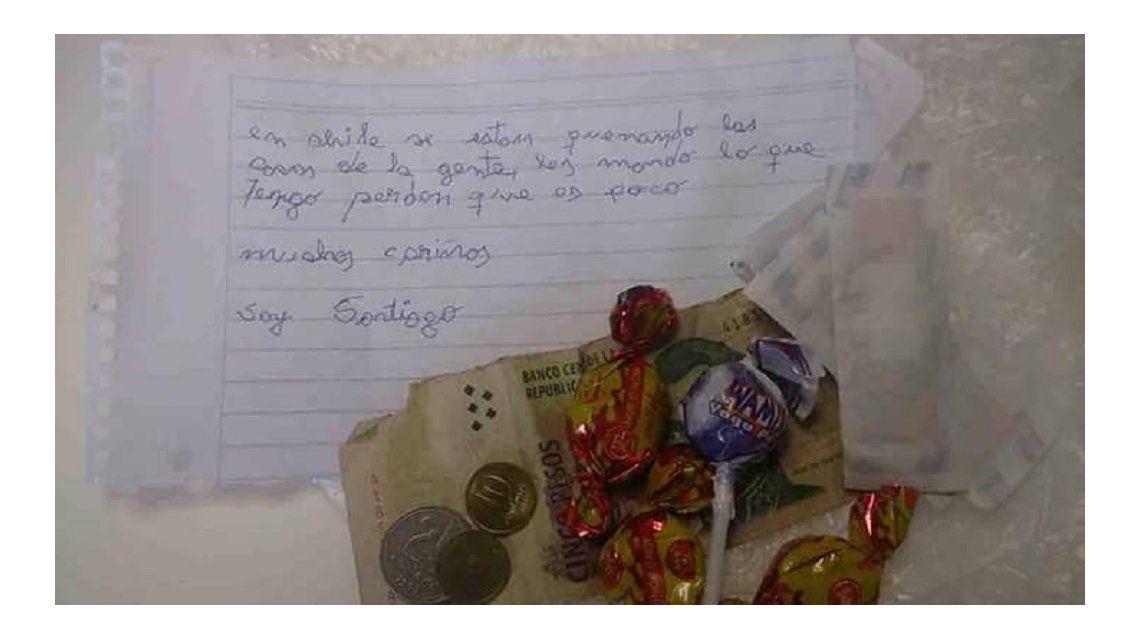 La carta y la donación de Santiago