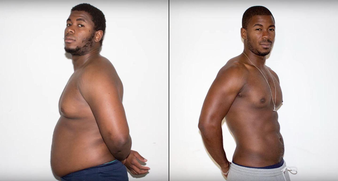 Se sacó una foto por día para mostrar la evolución en su pérdida de peso