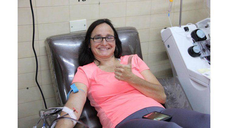 Elsa dona sangre cinco veces al año