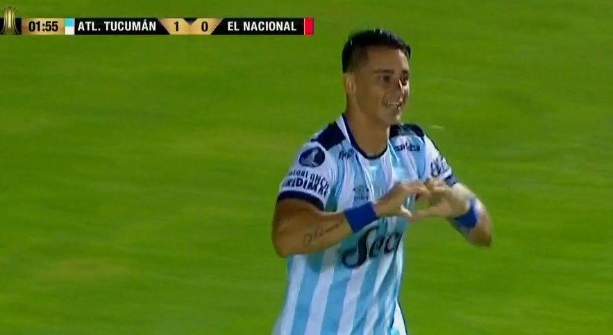 Zampedri metió el primer gol en la historia de Atlético Tucumán en la Copa Libertadores