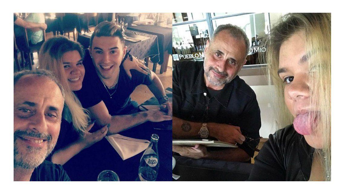 Morena Rial, junto a Jorge y su novio