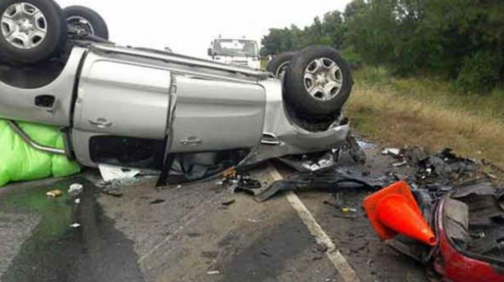 En el accidente falleció un hombre y sus dos hijas
