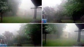 Imágenes del fuerte temporal que afectó a Pilar