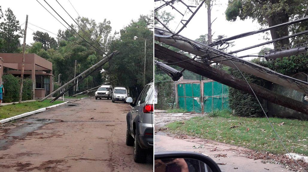 Así quedó el barrio La Lonja después del temporal