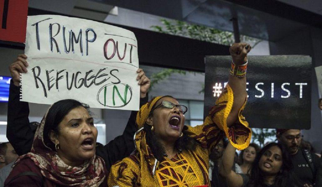 Refugiados contra la medida tomada por Trump