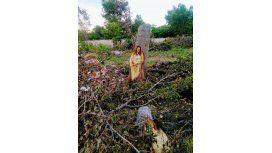 La imagen de Jesús en un árbol sorprendió a General Las Heras
